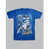 WWE Boy's T-shirt Graphic WWE Superstars Cena Lightning Short Sleeve – Blue at mygofer.com