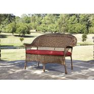 Garden Oasis Fox River Stackable Wicker Loveseat - Brown with Red Cushion at Kmart.com
