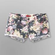 Bongo Junior's Distressed Denim Shorts - Floral