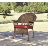 Garden Oasis Fox River Stackable Chair - Brown with Red Cushion at Kmart.com