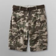 Roebuck & Co. Young Men's Belted Cargo Shorts - Camo at Sears.com