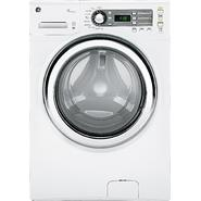GE 4.1 cu. ft. Steam Front-Load Washer - White at Sears.com