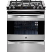 "Kenmore Elite 30"" Slide-In Dual Fuel Range Stainless Steel at Sears.com"