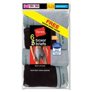 Hanes Men's Boxer Briefs 6 pack Black/Grey at Kmart.com