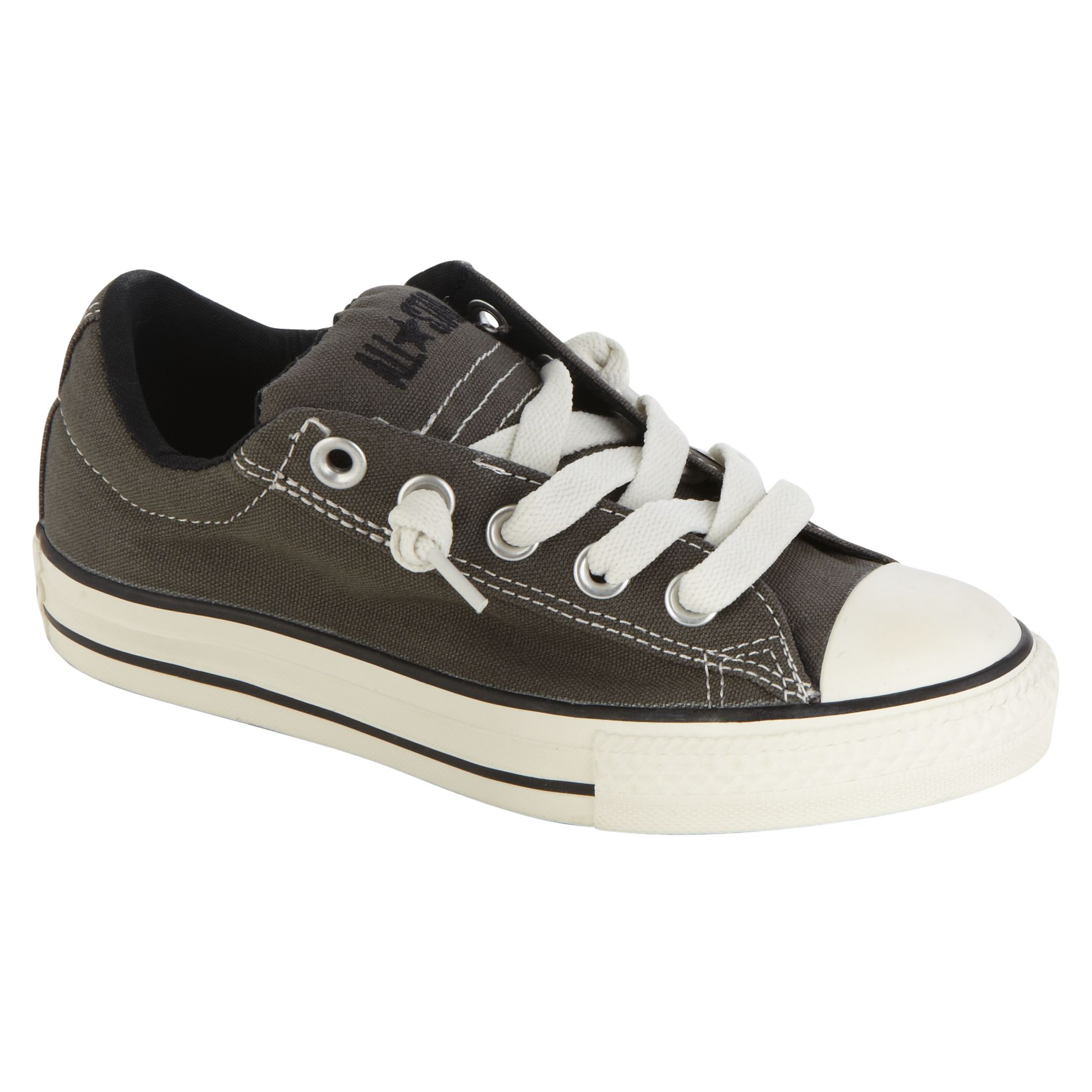 Converse Youth Boys Chuck Taylor All Star Street Ox Grey Medium Widths Gray 3 Youth image