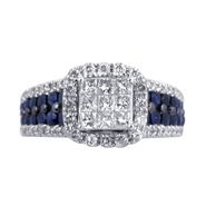 Women's Diamond Sapphire Bridal Ring at Sears.com