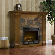 Southern Enterprises Elkmont Salem Antique Oak Electric Fireplace at Sears.com
