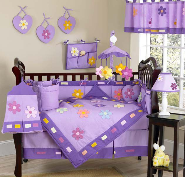 Sweet Jojo Designs  Daisies Collection 9pc Crib Bedding Set