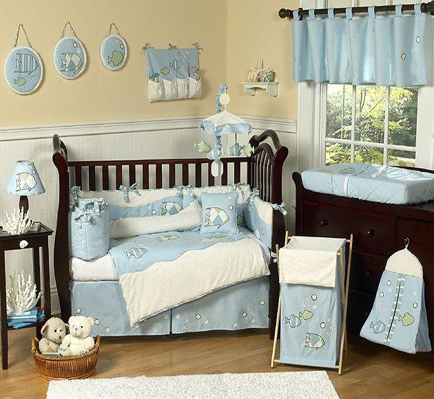 Sweet Jojo Designs Go Fish Collection 9pc Crib Bedding Set