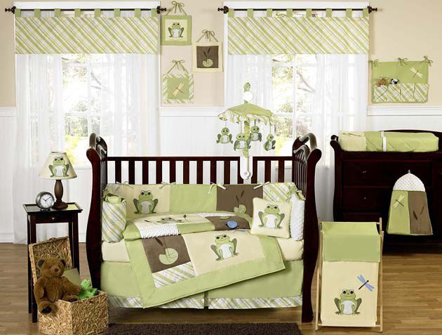 Sweet Jojo Designs Leap Frog Collection 9pc Crib Bedding Set