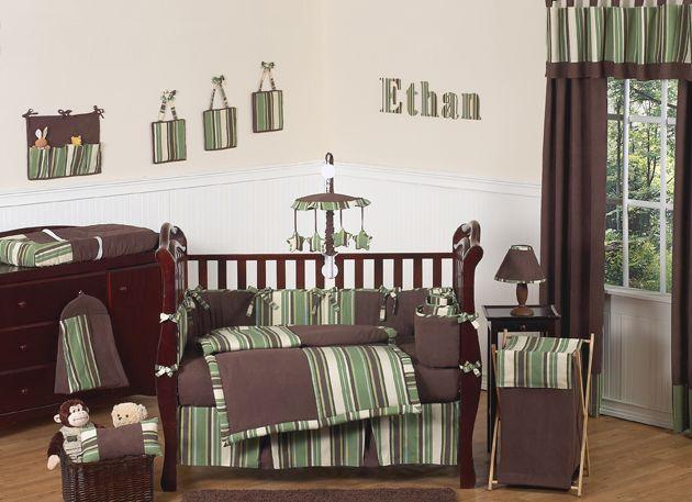 Sweet Jojo Designs Ethan Collection 9pc Crib Bedding Set
