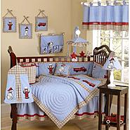 Sweet Jojo Designs Fire Truck Collection 9pc Crib Bedding Set at Sears.com