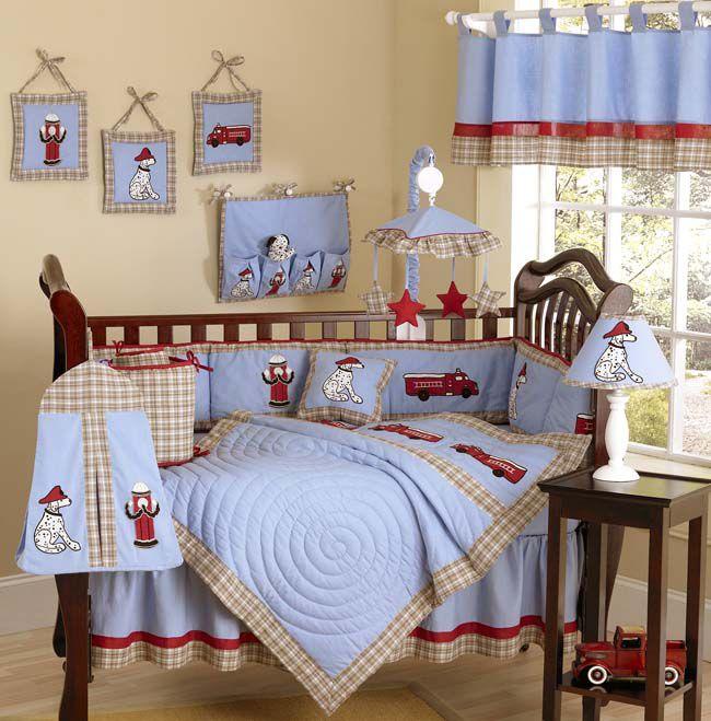 Sweet Jojo Designs Fire Truck Collection 9pc Crib Bedding Set