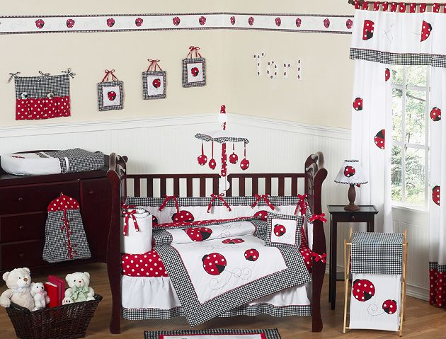 Sweet Jojo Designs Little Ladybug Collection 9pc Crib Bedding Set