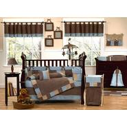 Sweet Jojo Designs Soho Blue and Brown Collection 9pc Crib Bedding Set at Sears.com
