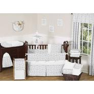 Sweet Jojo Designs Diamond Gray and White Collection 9pc Crib Bedding Set at Sears.com