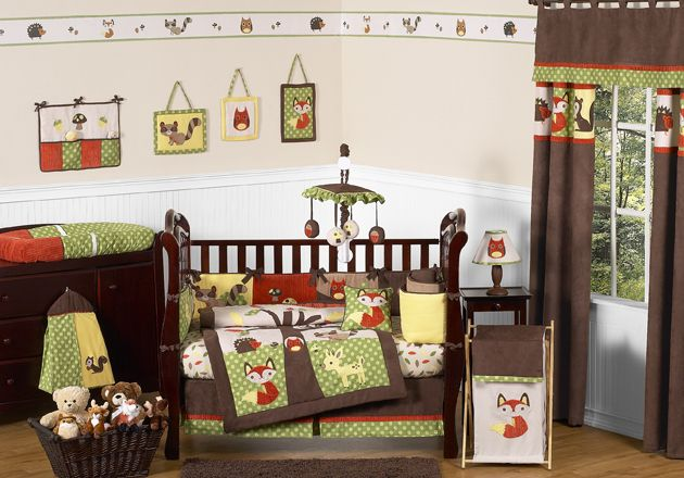 Sweet Jojo Designs Forest Friends Collection 9pc Crib Bedding Set