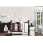 Sweet Jojo Designs Hotel White and Gray Collection 9pc Crib Bedding Set at Sears.com