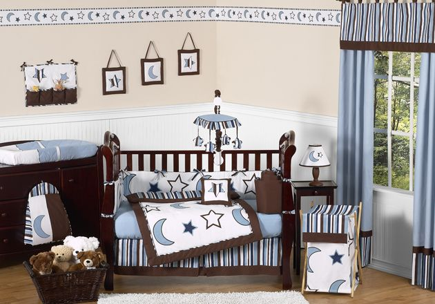 Sweet Jojo Designs Starry Night Collection 9pc Crib Bedding Set