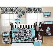Sweet Jojo Designs Zebra Turquoise Collection 9pc Crib Bedding Set at Kmart.com