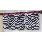 Zebra Pink Collection Window Valance