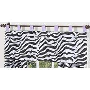 Sweet Jojo Designs Zebra Purple Collection Window Valance at Kmart.com