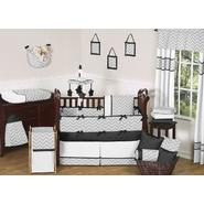 Sweet Jojo Designs Zig Zag Black and Gray Collection 9pc Crib Bedding Set at Kmart.com