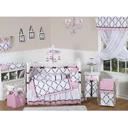 Sweet Jojo Designs Princess Black, White and Pink Collection 9pc Crib Bedding Set at Kmart.com