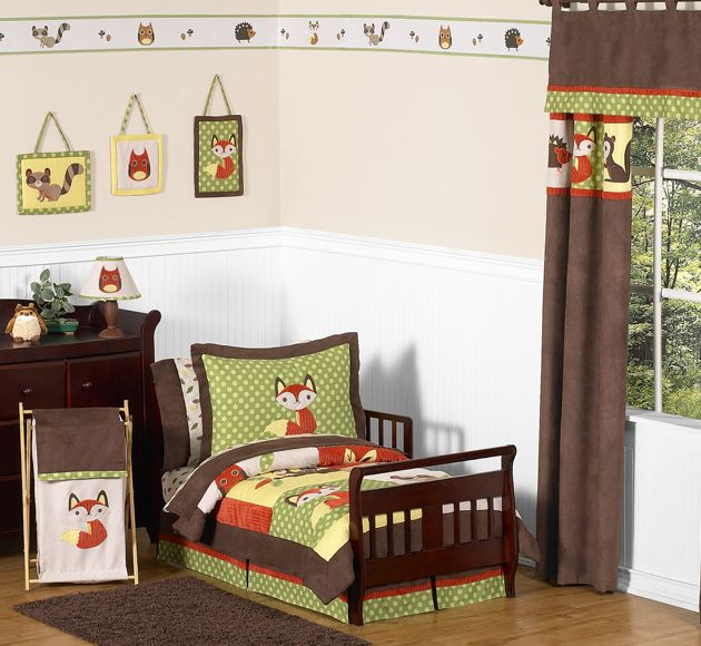 Sweet Jojo Designs Forest Friends Collection 5pc Toddler Bedding Set