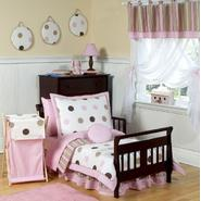 Sweet Jojo DesignsMod Dots Pink Bedding & Laundry Hamper Bundle at Sears.com
