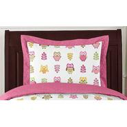 Sweet Jojo Designs Owl Pink Collection Standard Pillow Sham at Kmart.com
