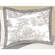 Sweet Jojo Designs Black Toile Collection Standard Pillow Sham at Kmart.com