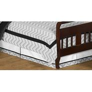 Sweet Jojo Designs Zig Zag Black and Gray Collection Toddler Bed Skirt at Kmart.com