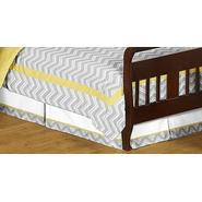 Sweet Jojo Designs Zig Zag Yellow and Gray Collection Toddler Bed Skirt at Kmart.com