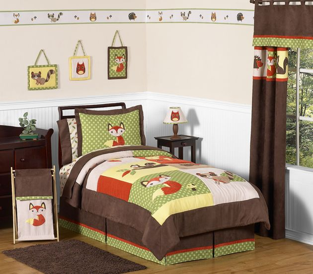 Sweet Jojo Designs Forest Friends Collection 4pc Twin Bedding Set