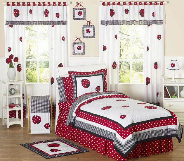 Sweet Jojo Designs Little Ladybug Collection 4pc Twin Bedding Set