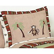 Sweet Jojo Designs Monkey Collection Standard Pillow Sham at Kmart.com