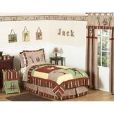 Sweet Jojo Designs Monkey Collection 3pc Full/Queen Bedding Set at mygofer.com
