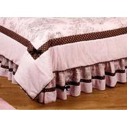 Sweet Jojo Designs Pink and Brown Toile Collection Queen Bed Skirt at Kmart.com