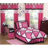 Sweet Jojo Designs Soccer Pink Collection 3pc Full/Queen Bedding Set at Kmart.com