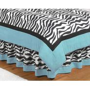 Sweet Jojo Designs Zebra Turquoise Collection Queen Bed Skirt at Kmart.com