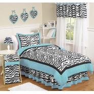 Sweet Jojo Designs Zebra Turquoise Collection 3pc Full/Queen Bedding Set at Kmart.com