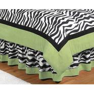Sweet Jojo Designs Zebra Lime Collection Queen Bed Skirt at Kmart.com