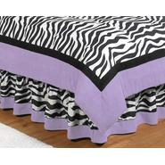 Sweet Jojo Designs Zebra Purple Collection Queen Bed Skirt at Kmart.com