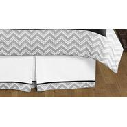 Sweet Jojo Designs Zig Zag Black and Gray Collection Queen Bed Skirt at Kmart.com