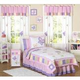 Sweet Jojo Designs Butterfly Pink and Purple Collection 3pc Full/Queen Bedding Set at mygofer.com