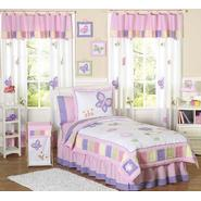 Sweet Jojo Designs Butterfly Pink and Purple Collection 3pc Full/Queen Bedding Set at Kmart.com