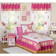 Sweet Jojo Designs Butterfly Pink and Orange Collection 3pc Full/Queen Bedding Set at Kmart.com