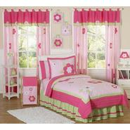 Sweet Jojo Designs Flower Pink and Green Collection 3pc Full/Queen Bedding Set at Kmart.com