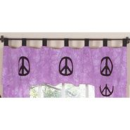Sweet Jojo Designs Peace Purple Collection Window Valance at Kmart.com